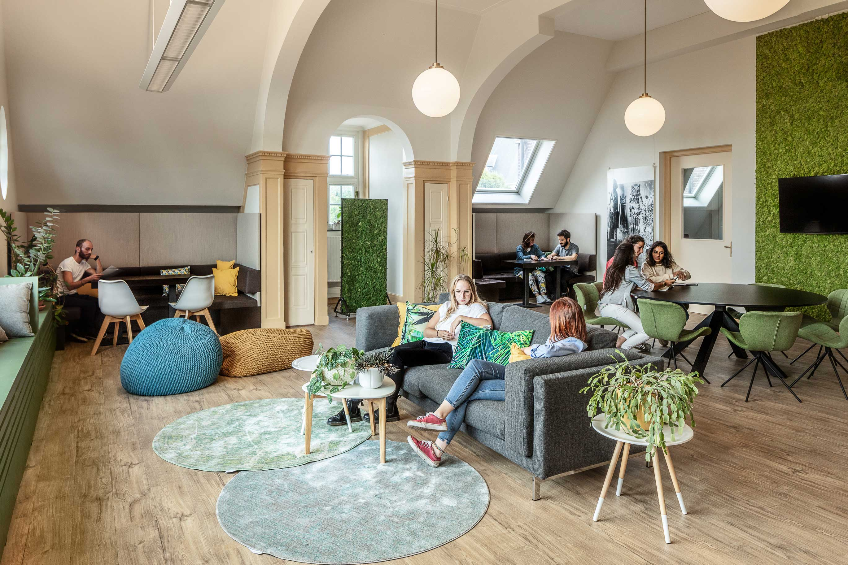 Workplace designed by Akka Architects