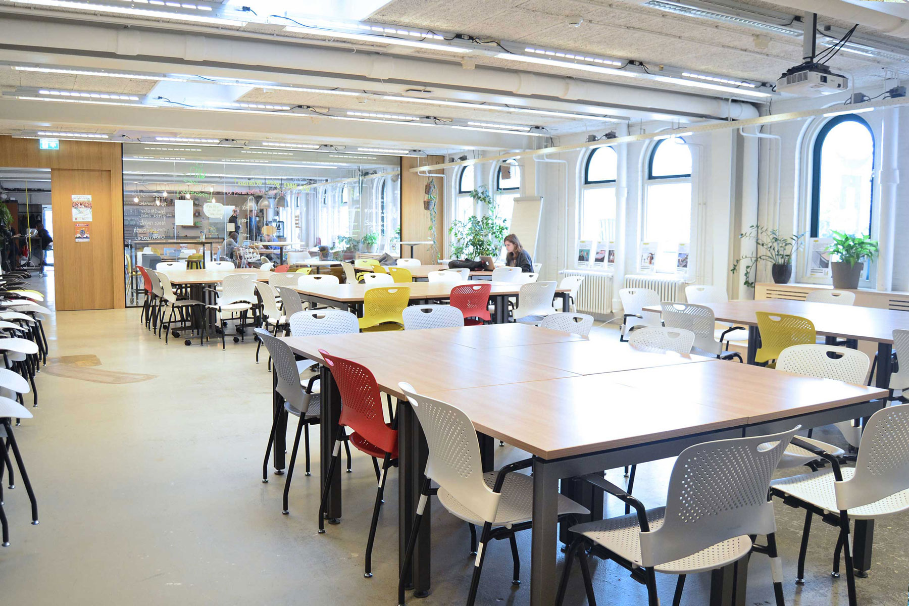 Flexwerken natural light adaptable office place employees impact hub oosterpark amsterdam