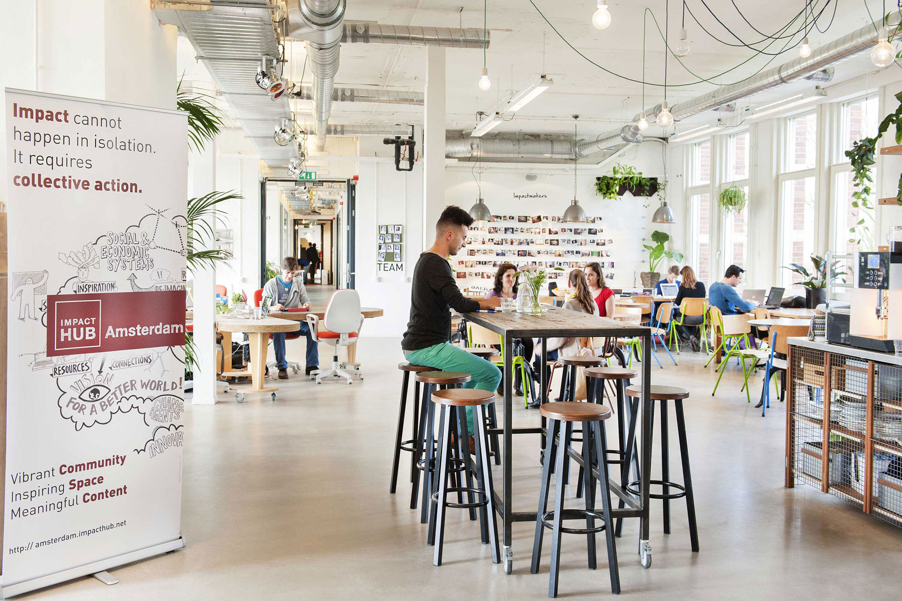 flexible workplace coworker collective action impact hub westerpark amsterdam