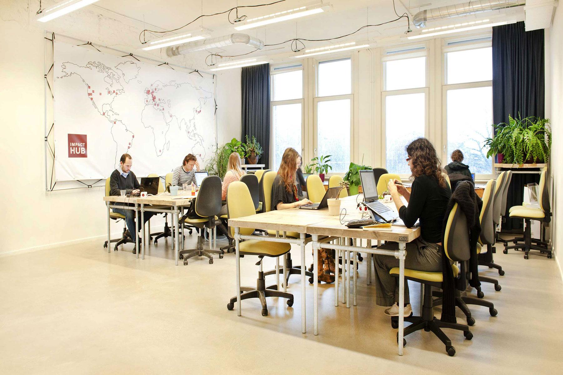 coworker activity social open workspace impact hub westerpark amsterdam