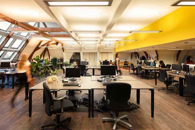 Workplace at KIT Tropical Institute in Amsterdam designed by AKKA Architects